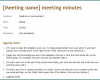 Free Printable Board Meeting Minutes Template