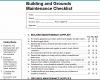 Free Printable Building Maintenance Checklist Template