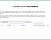 Free Printable Certificate Of Compliance Template