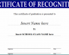 Free Printable Certificate Of Recognition Template