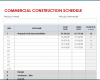 Free Printable Commercial Construction Schedule Template