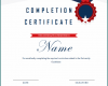 Free Printable Course Completion Certificate Template