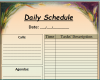 Free Printable Daily Schedule Template Word