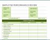 Free Printable Employee Performance Evaluation Template