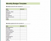 Free Printable Financial Budget Template