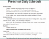 Free Printable Preschool Daily Schedule Template