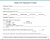 Free Printable Request For Time Off Form