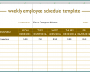 Free Printable Weekly Employee Schedule Template