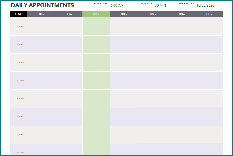 Appointment Scheduler Template Excel from www.bogiolo.com