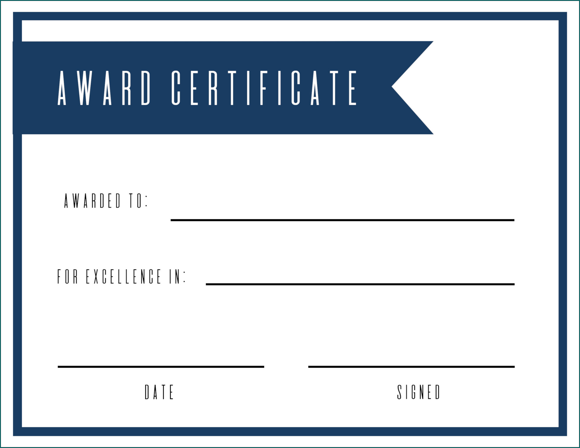 Award Certificate Template Sample