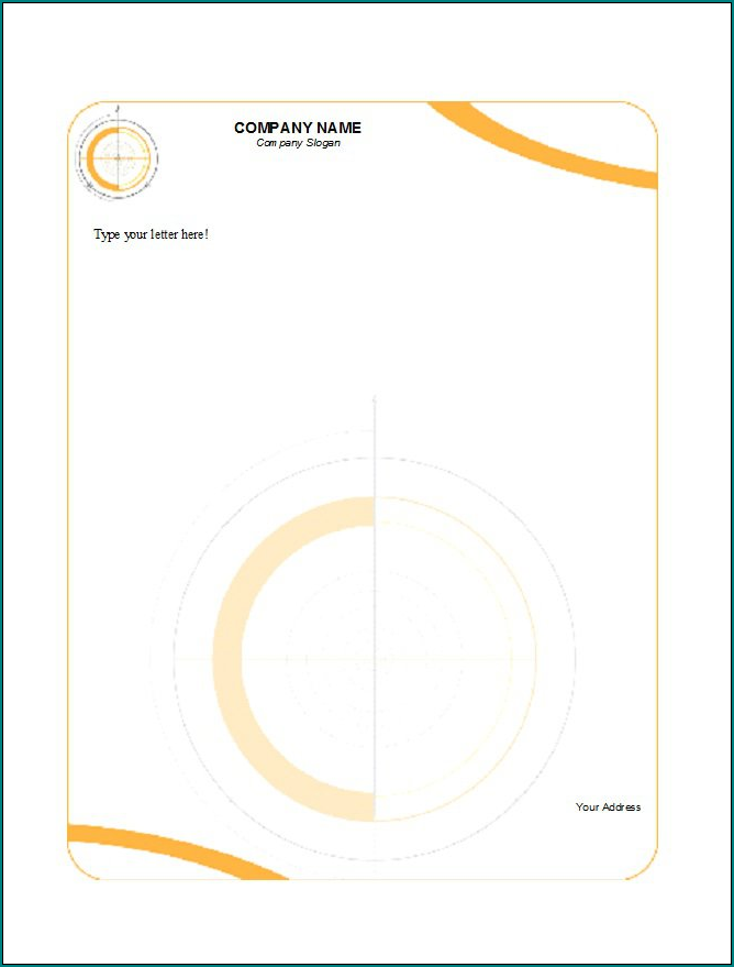 Business Letterhead Template Word Example