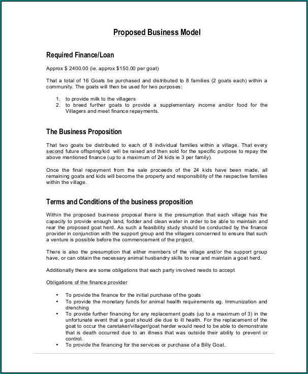 Business Proposal Sample