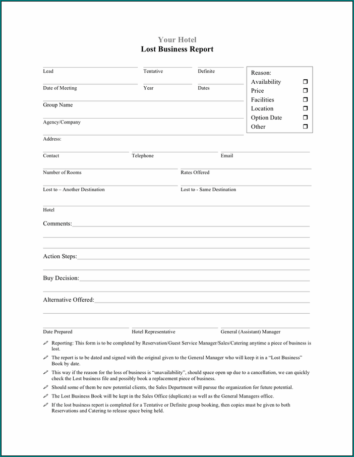 Business Report Template Sample
