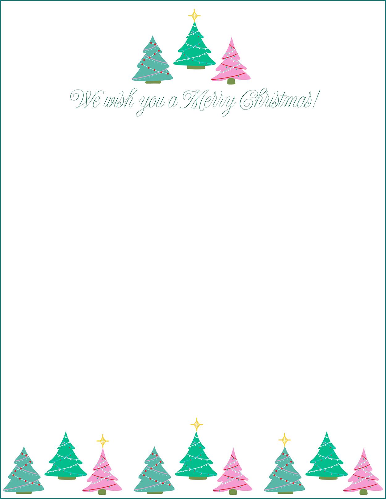 Christmas Letter Template Sample