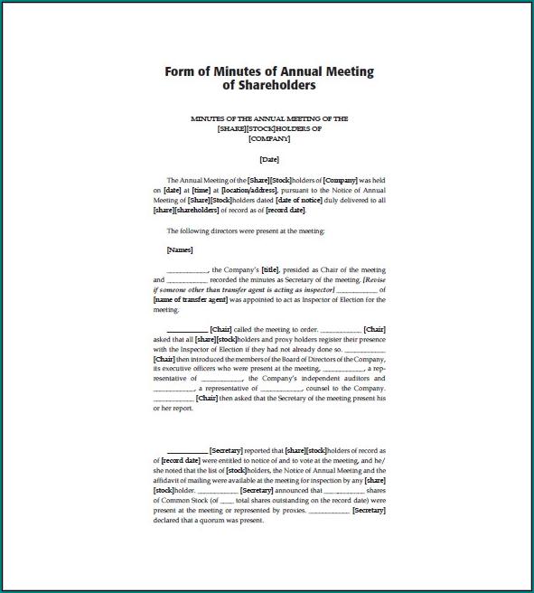 Corporate Meeting Minutes Template Word Sample