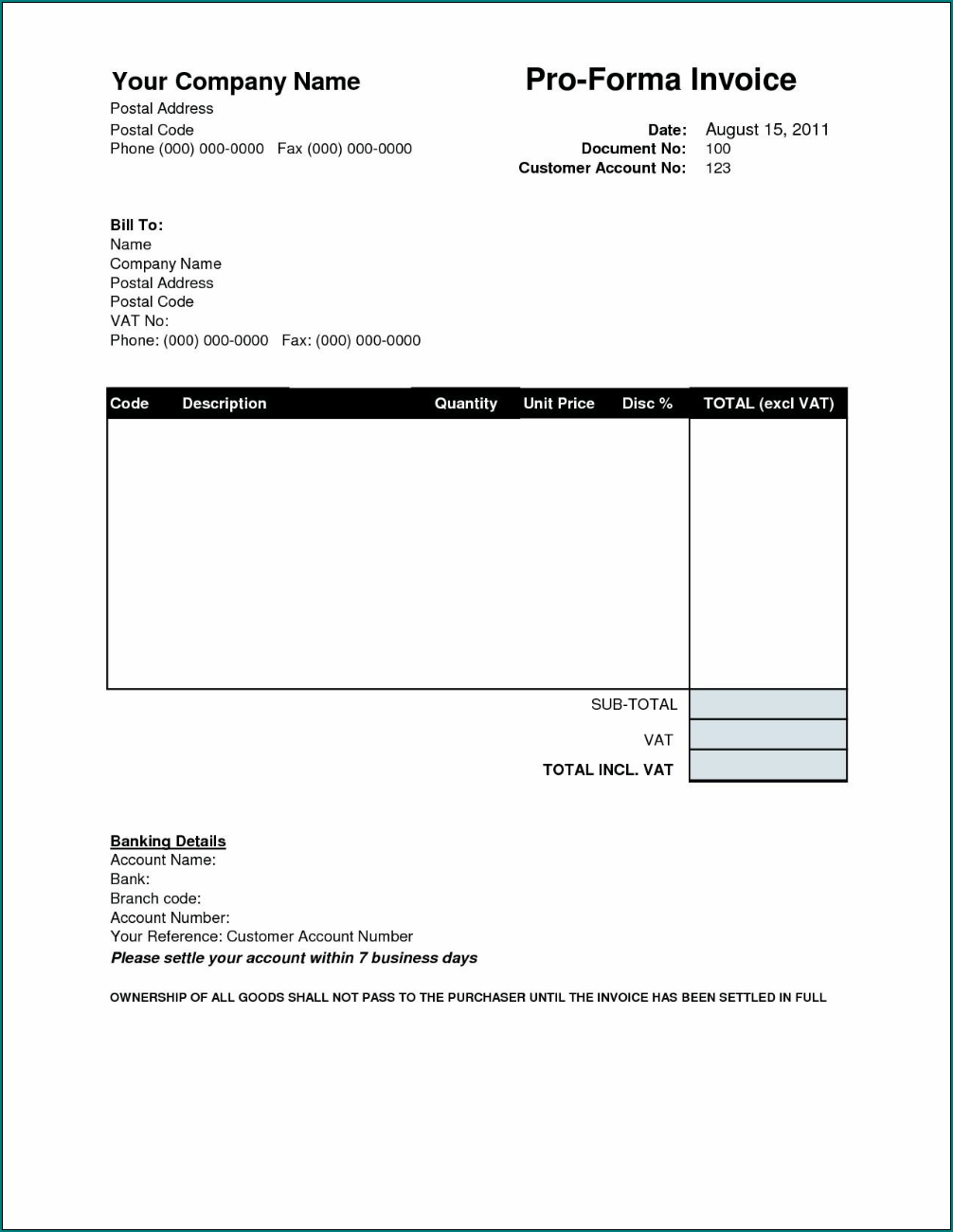 Electrician Receipt Template Example