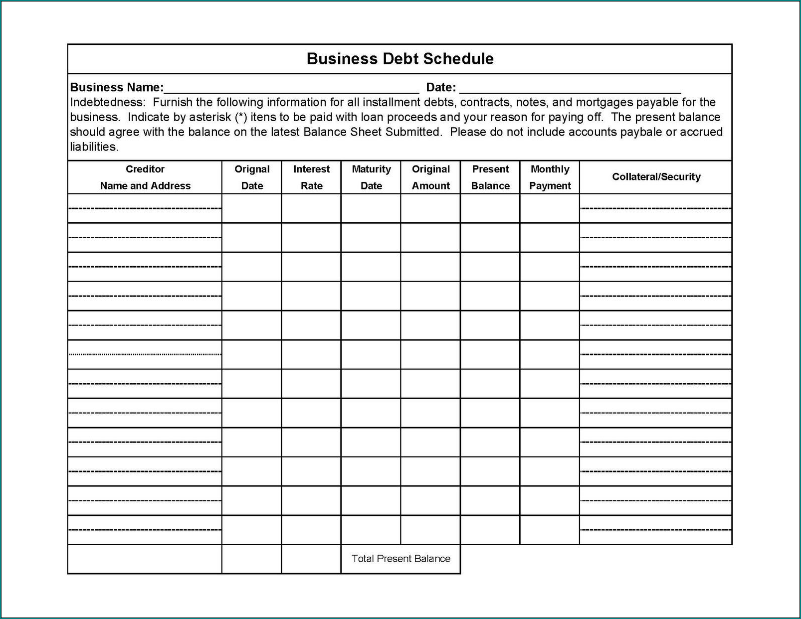 Debt Excel Template from www.bogiolo.com