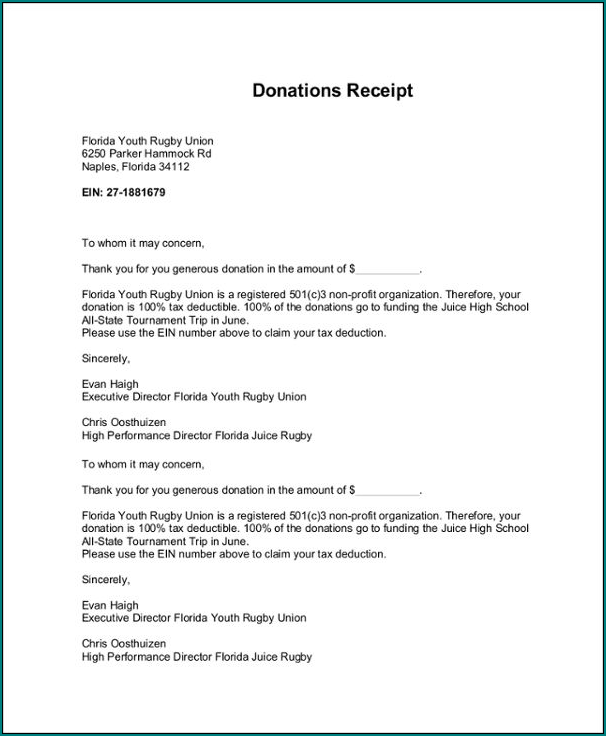 Example of Donation Letter Template