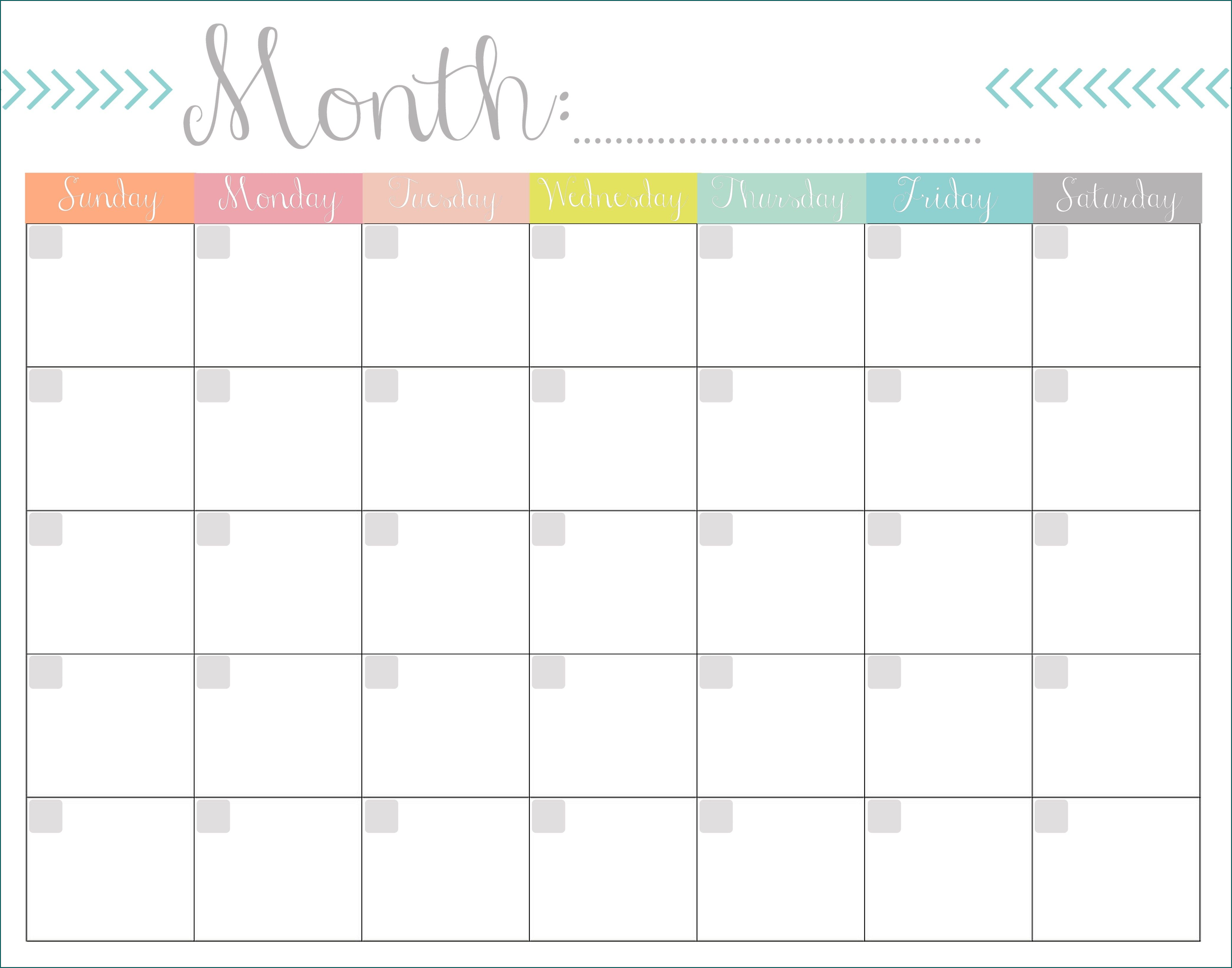 Example of Excel Monthly Work Schedule Template