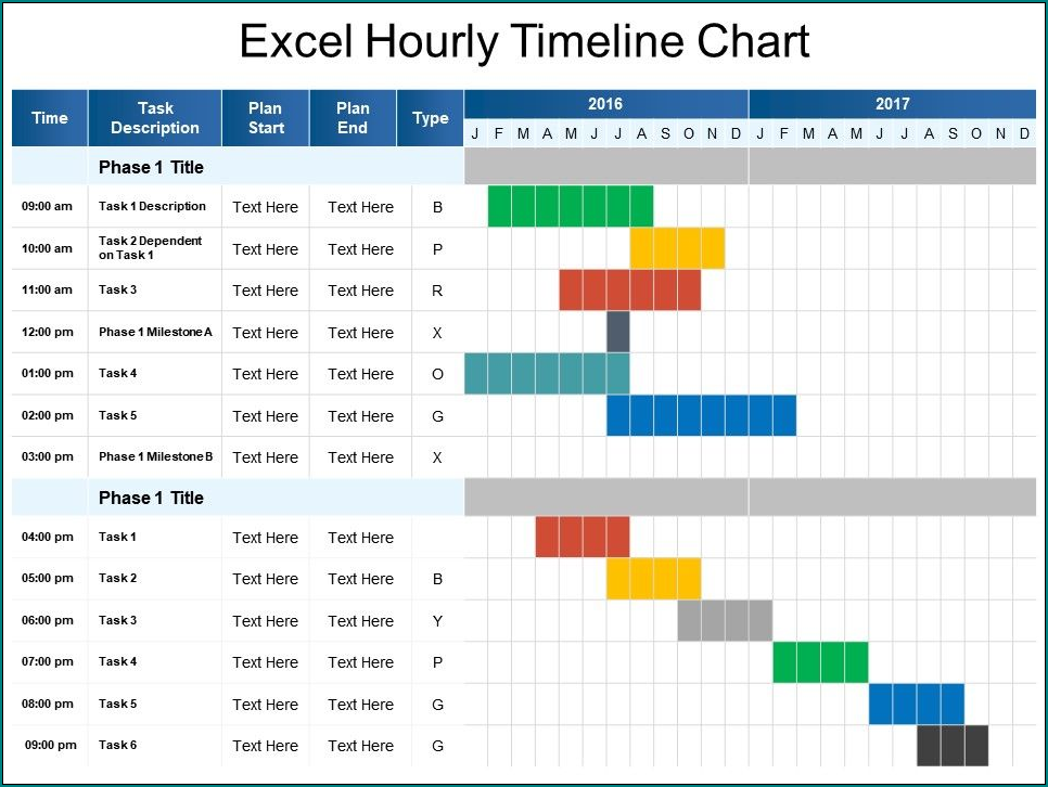 Example of Excel Timeline Template