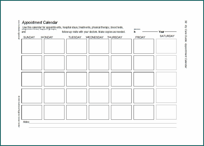 Example of Schedule Appointment Template