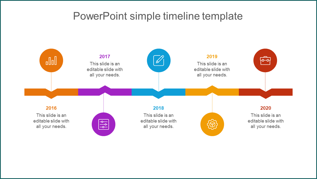Example of Simple Timeline Template