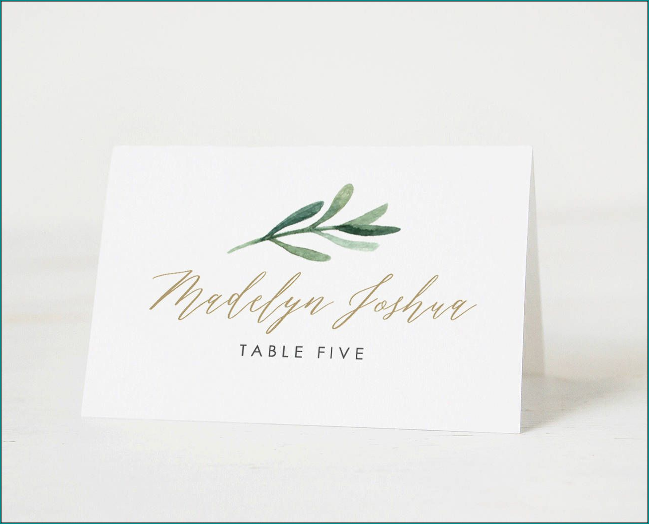 Example of Table Name Cards Template