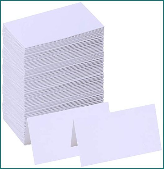 Example of Table Tent Cards