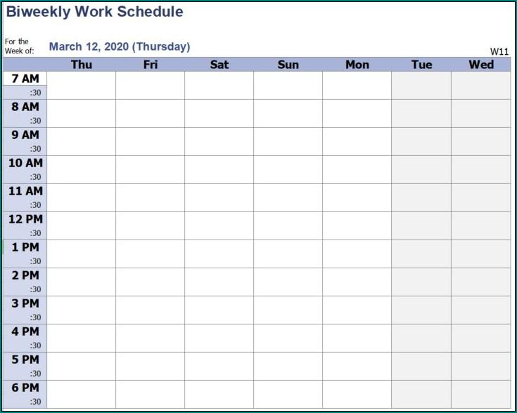 Bi Weekly Employee Schedule Template from www.bogiolo.com
