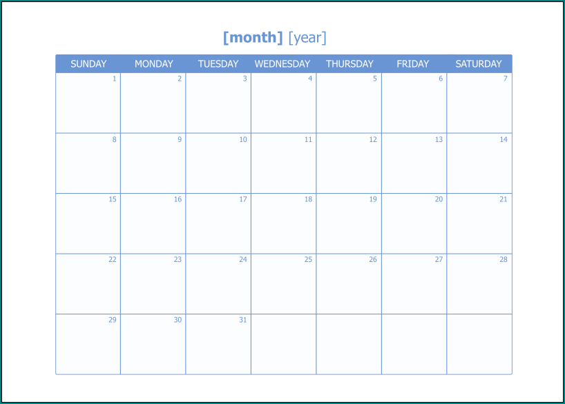 Excel Monthly Work Schedule Template Sample