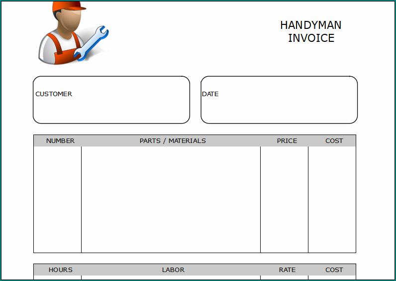 Handyman Receipt Template