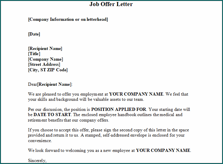 New Job Offer Letter from www.bogiolo.com