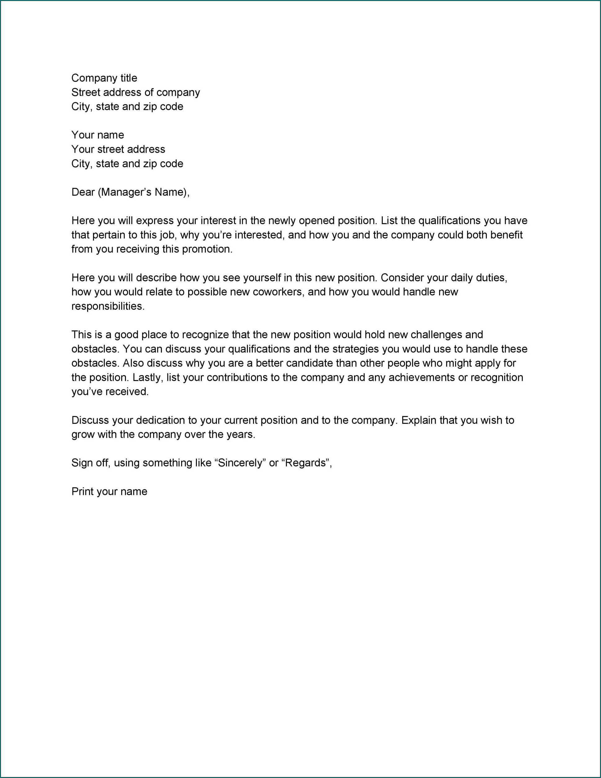Letter Of Interest Template Example