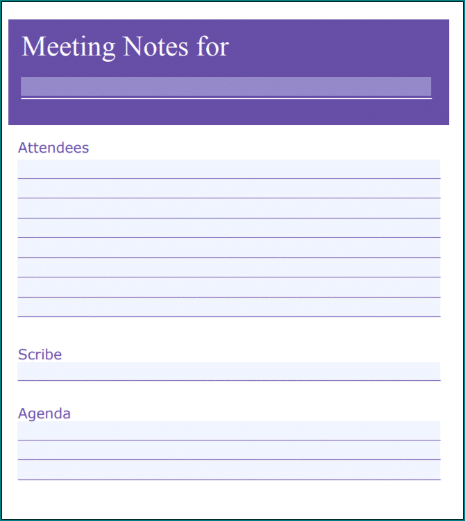 Meeting Notes Sample