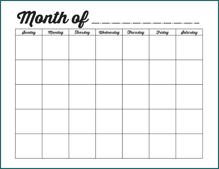 Monthly Employee Schedule Template Example
