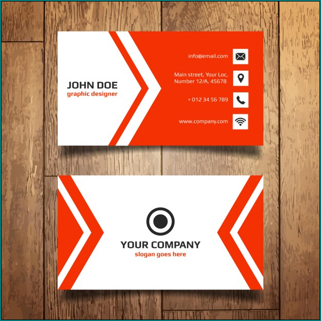 Name Card Template Example