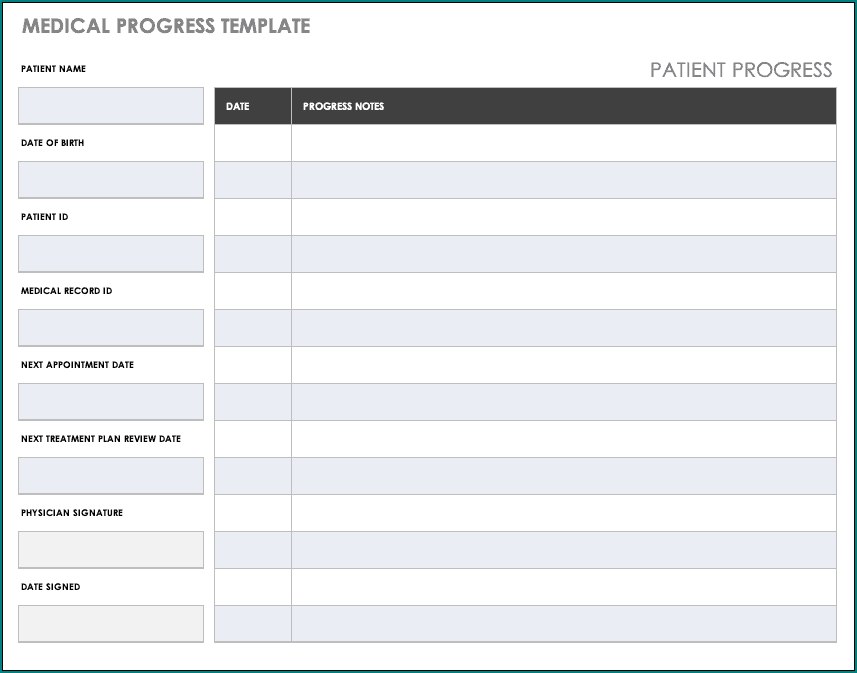 Personal Medical Health Record Sheet Template Sample