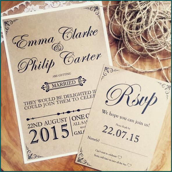 Rustic Wedding Invitation Template Sample