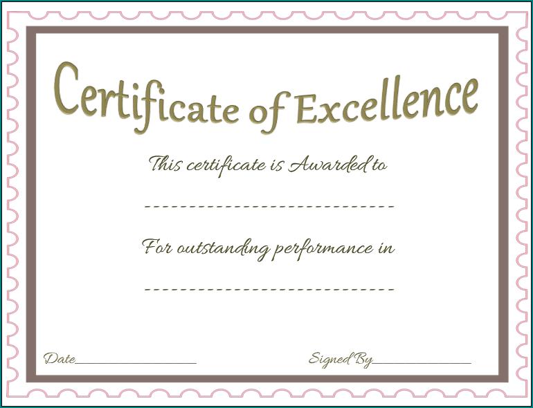 Sample of Award Certificate Template