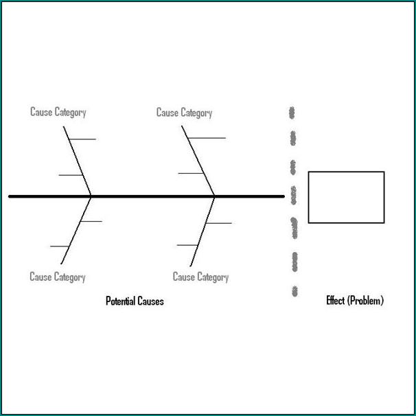 Sample of Blank Fishbone Diagram Template
