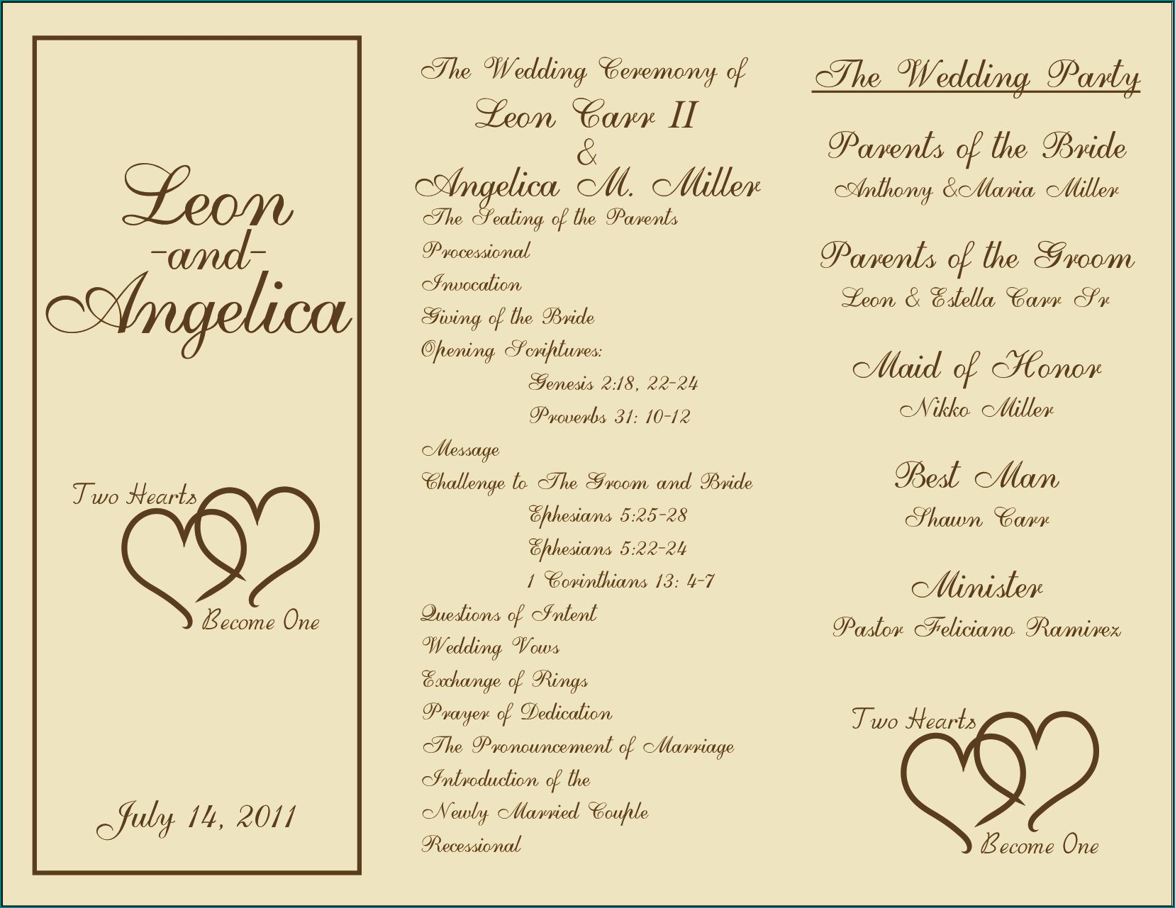 Sample of Ceremony Program Template