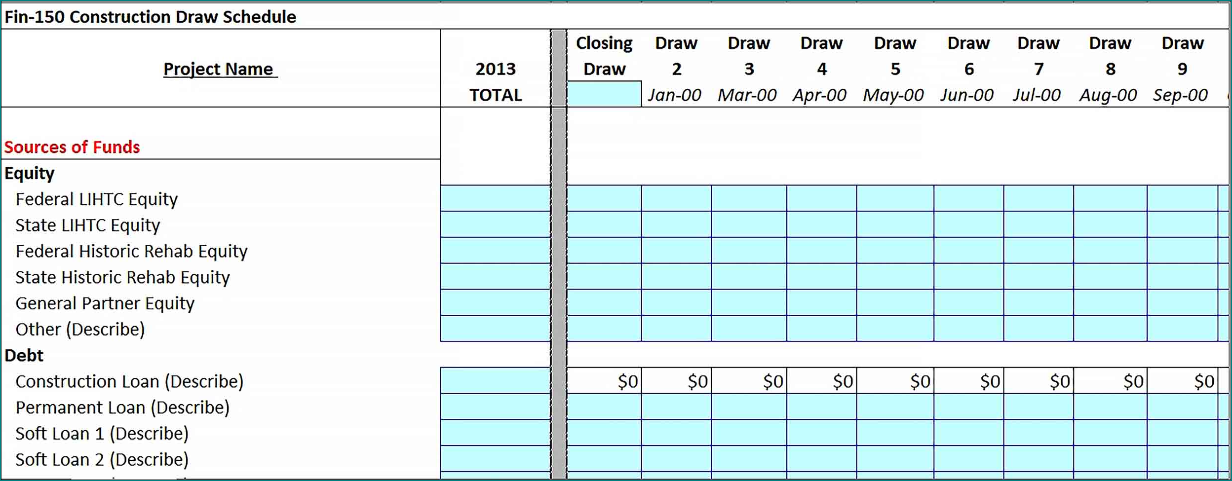 Sample of Commercial Construction Schedule Template