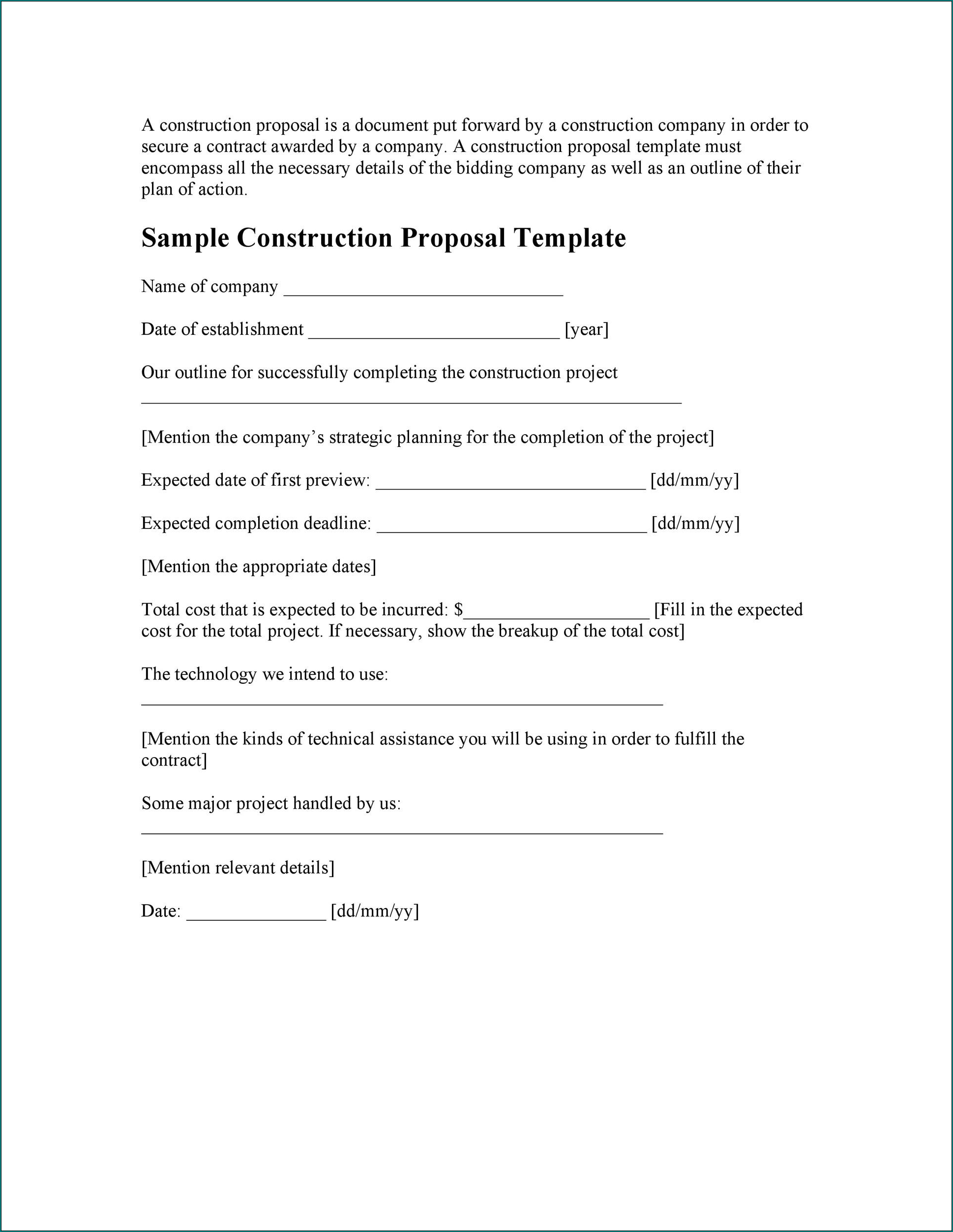 Sample of Proposal Letter
