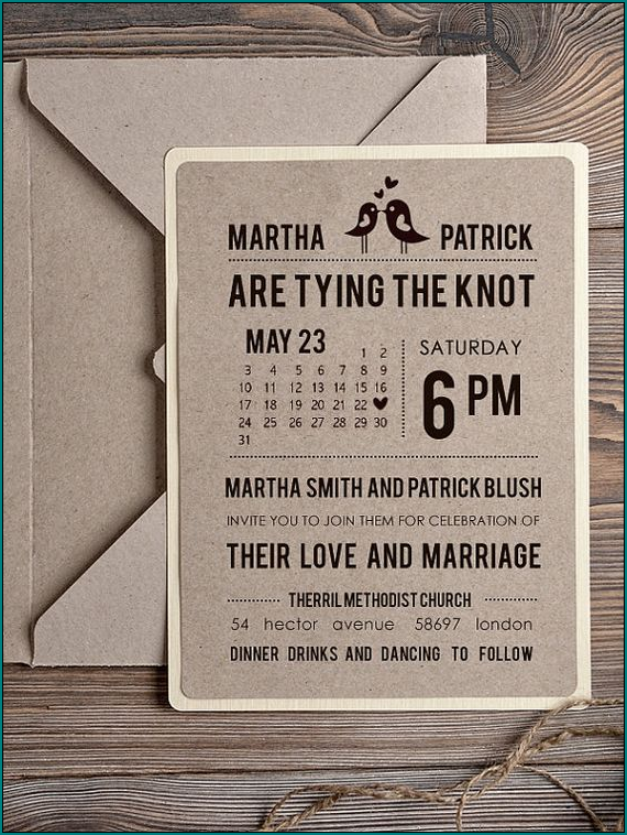 Sample of Rustic Wedding Invitation Template