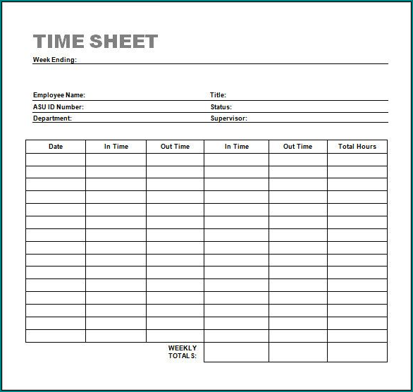 It's just an image of Printable Timesheet with regard to manual