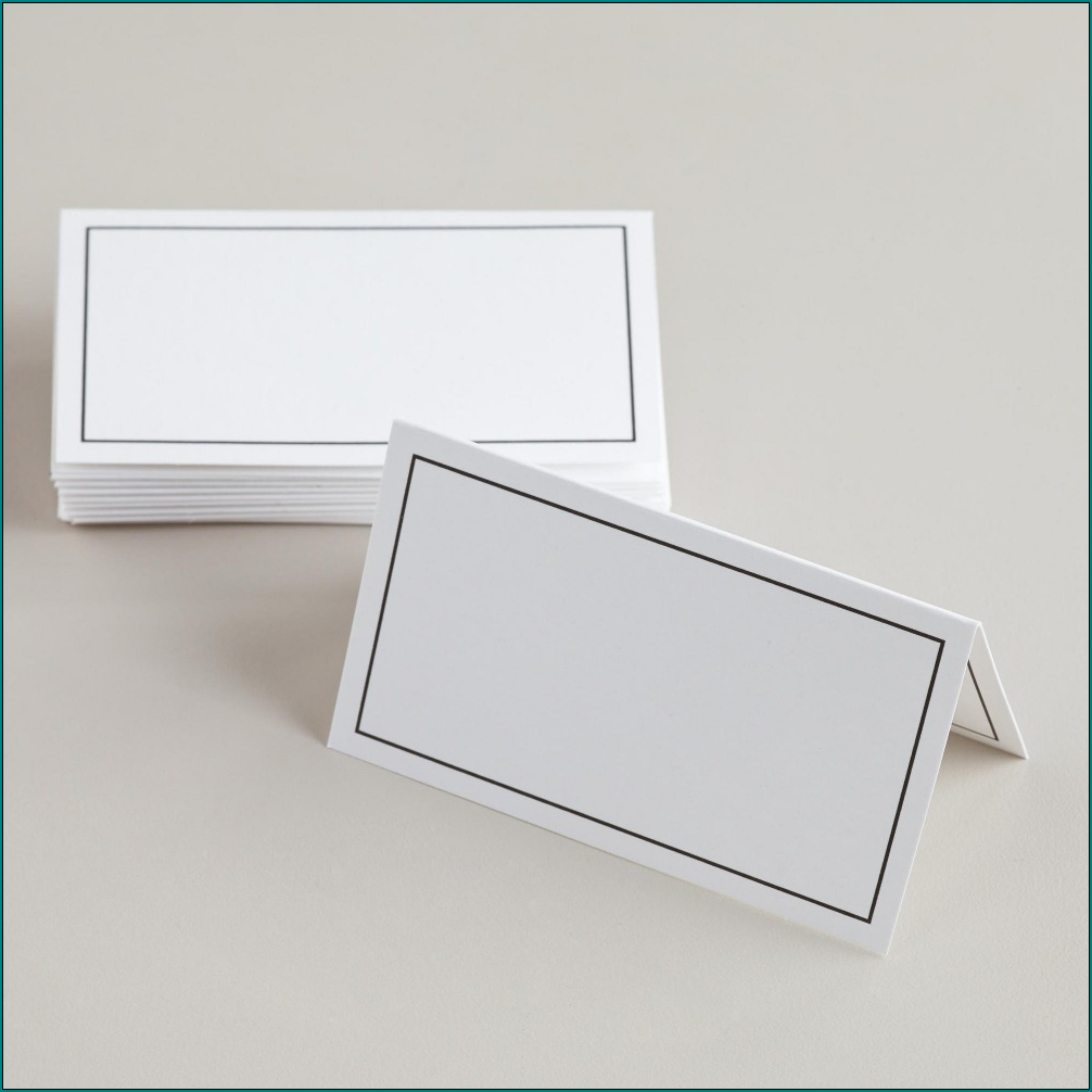 Sample of Table Tent Cards