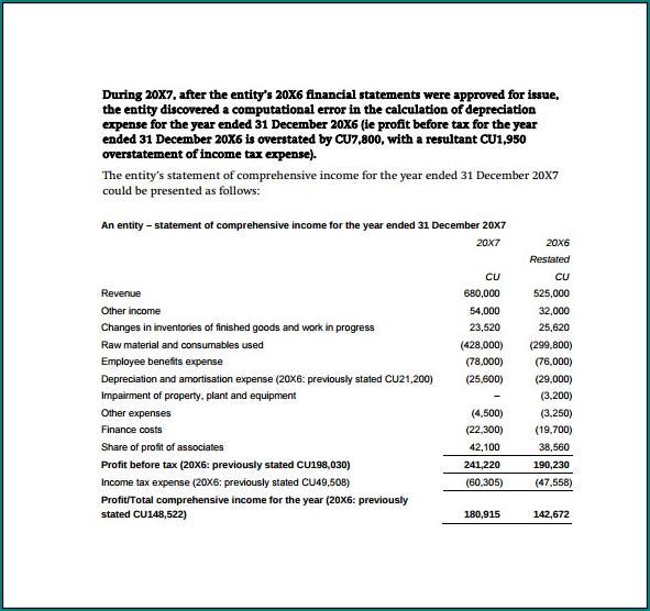 Simple Income Statement Template Example
