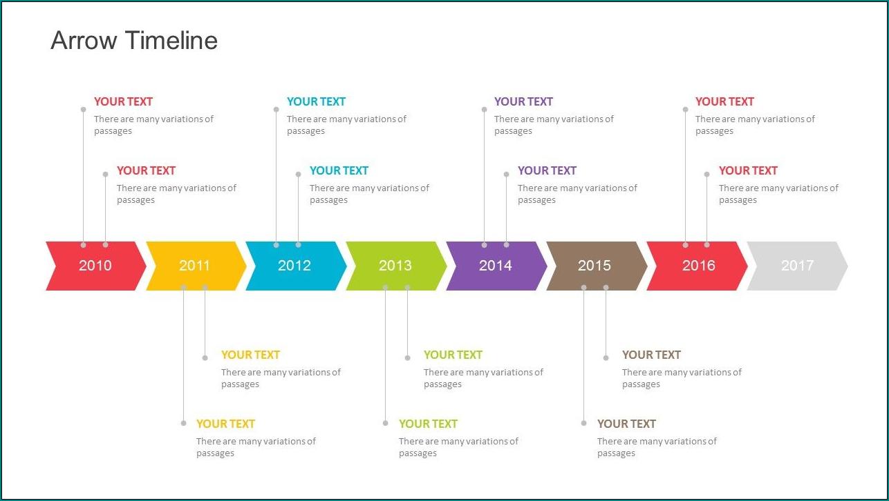 Simple Timeline Template Sample