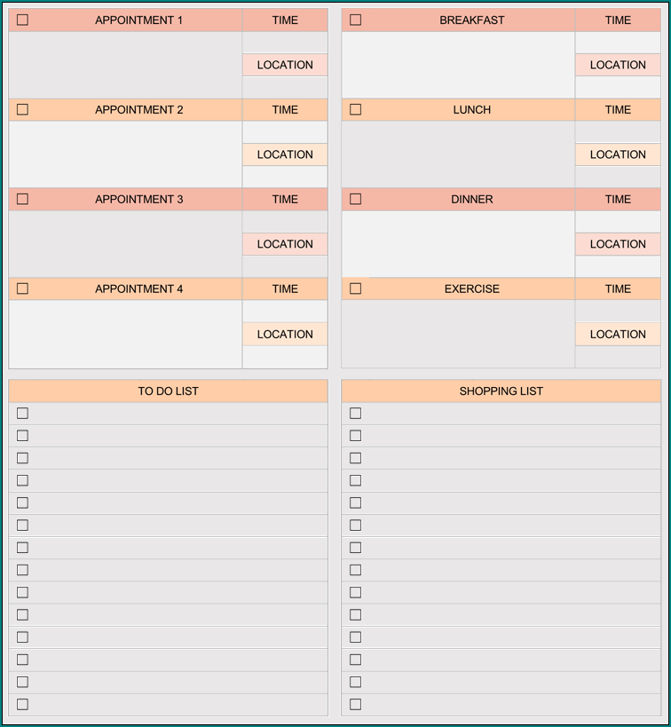 To Do List Template Excel Example