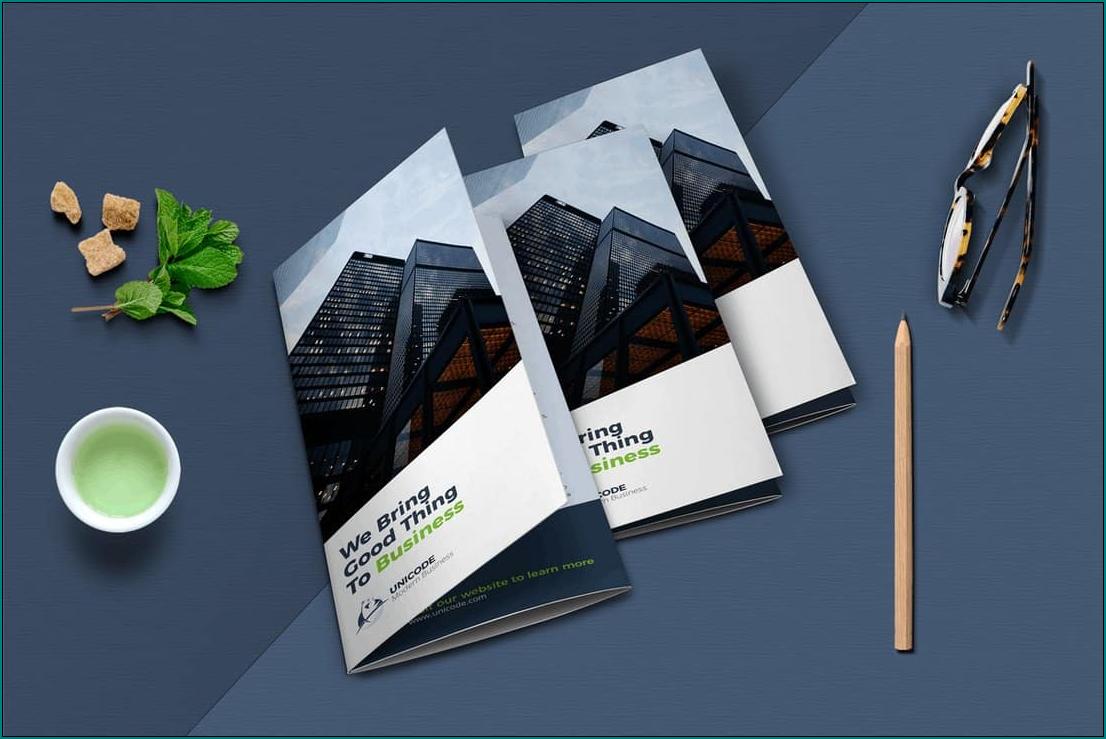 Tri Fold Brochure Template Example